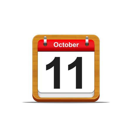 Illustration elegant wooden calendar on white background  Stock Illustration - 16227244