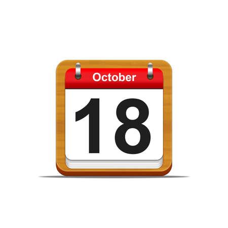 Illustration elegant wooden calendar on white background Stock Illustration - 16227276