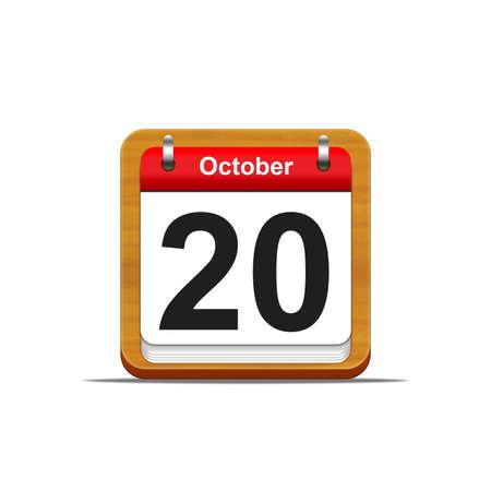 Illustration elegant wooden calendar on white background Stock Illustration - 16227296