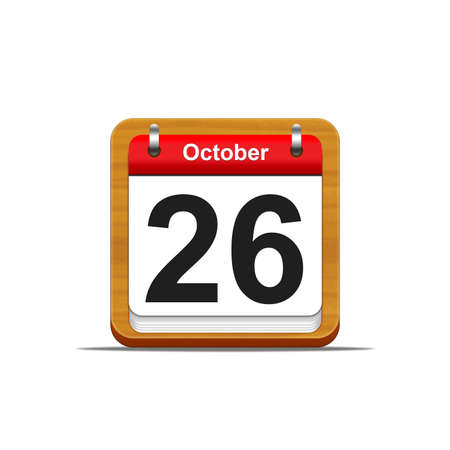 Illustration elegant wooden calendar on white background  Stock Illustration - 16227308