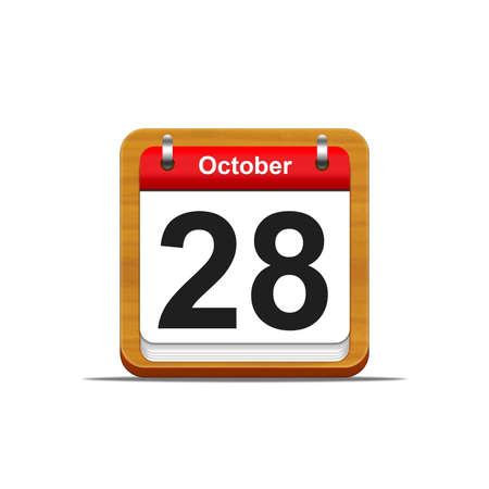 Illustration elegant wooden calendar on white background  Stock Illustration - 16227303
