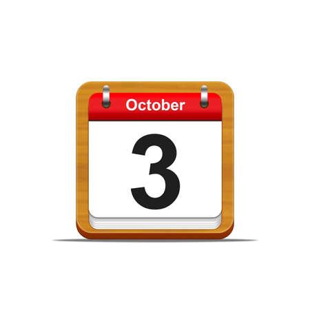 Illustration elegant wooden calendar on white background  Stock Illustration - 16227242