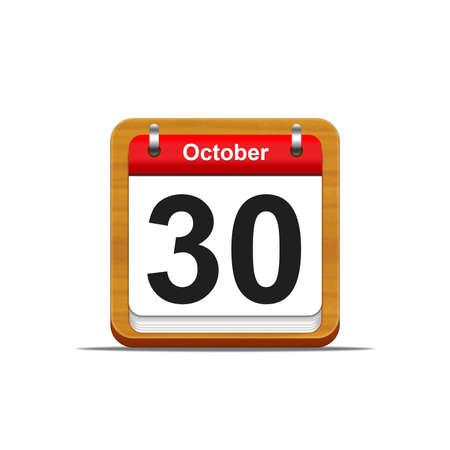 Illustration elegant wooden calendar on white background  Stock Illustration - 16227301