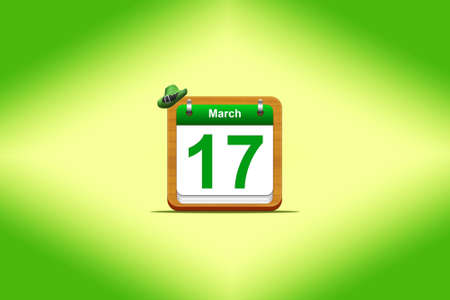 Illustration with a St Patrick day calendar  Stock Illustration - 16355970