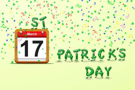 Illustration with a St Patrick day calendar Stock Illustration - 16355979