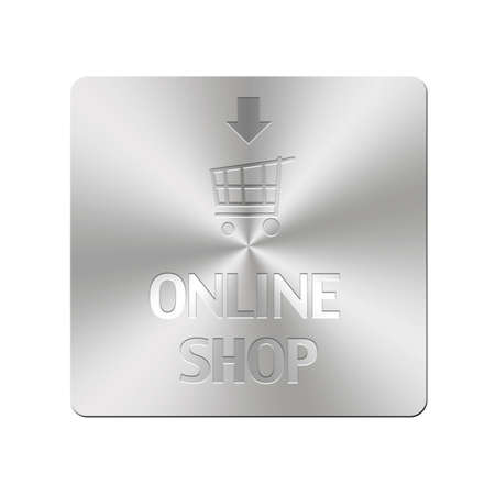 Illustration with metal button of online shop Stock Illustration - 16355985