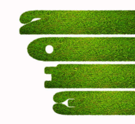 Illustration with a 2013 year and grass Stock Illustration - 16452288