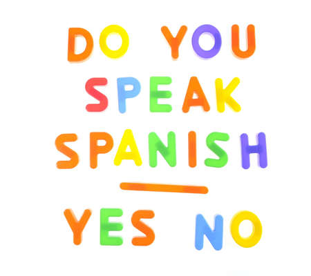 Letters with phrase Do you speak spanish  Stock Photo - 16470952
