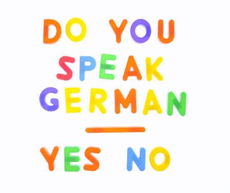 Letters with phrase Do you speak german  Stock Photo - 16470953