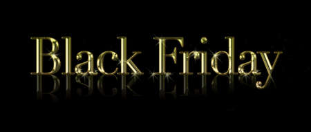 Illustration with a phrase Black Friday on black background  Stock Illustration - 16484526