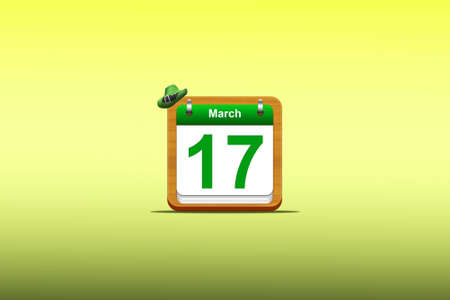 Illustration with a St Patrick day calendar  Stock Illustration - 16484530