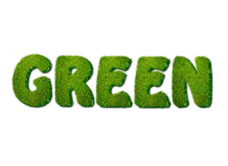 Illustration with green word in grass on white background Stock Illustration - 16491522