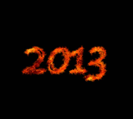 Illustration with a word 2013 in flame Stock Illustration - 16507734