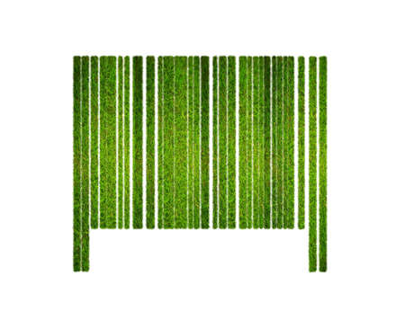 Illustration with a nature barcode and grass  illustration