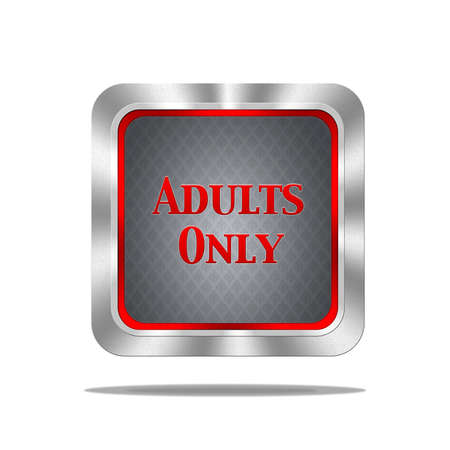 Aluminum frame illustration with adults only signal on white background