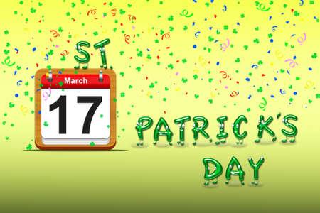 Illustration with a St Patrick day calendar Stock Illustration - 16596849
