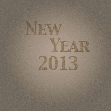 Illustration with wood effect and New year 2013  Stock Illustration - 16609977