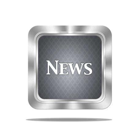 Aluminum frame illustration with news signal on white background  Stock Illustration - 16612581