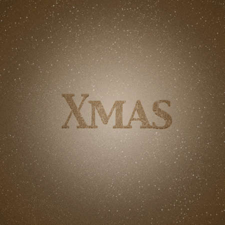 Illustration with wood effect and Xmas word  illustration