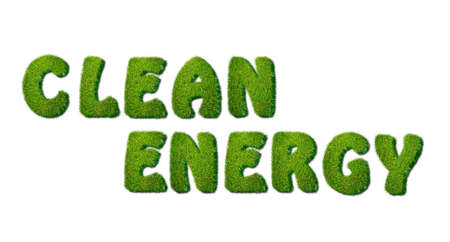 Illustration with a phrase Clean Energy grass  Stock Illustration - 16628770