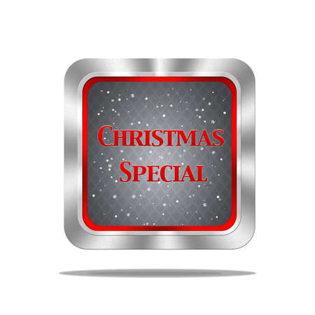 Aluminum frame illustration with Christmas special signal on white background  illustration