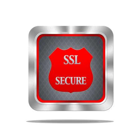 Aluminum frame illustration with SSL secure signal on white background Stock Illustration - 16628780
