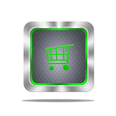 Aluminum frame illustration with cart signal on white background  Stock Illustration - 16665101