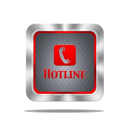 Aluminum frame illustration with hotline signal on white background Stock Illustration - 16665095