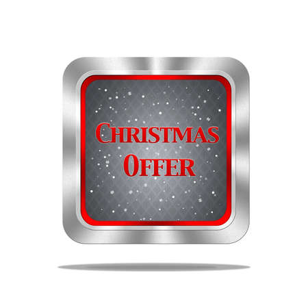 Aluminum frame illustration with Christmas offer signal on white background  illustration