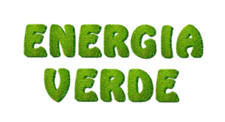 Illustration with green power on white background Stock Illustration - 16693171