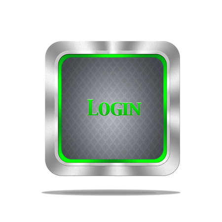 Aluminum frame illustration with login signal on white background  Stock Illustration - 16693163
