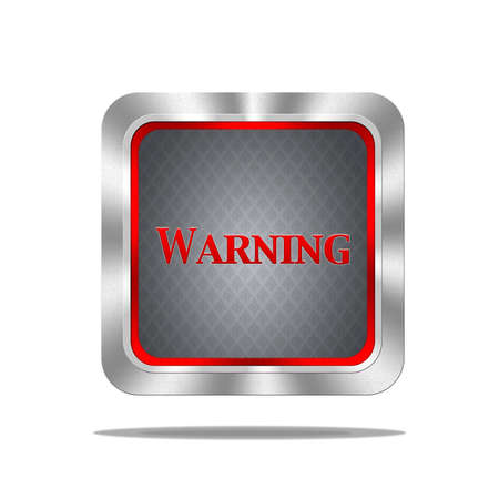 Aluminum frame illustration with warning signal on white background  Stock Illustration - 16749660