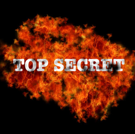 Illustration with Top secret  burning on black background  Stock Illustration - 16749661