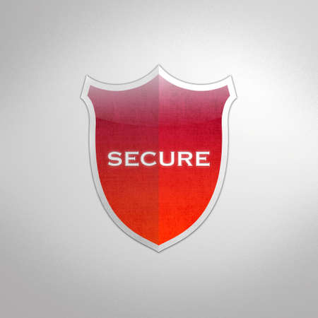Illustration with secure shield on white background  Stock Illustration - 16749669