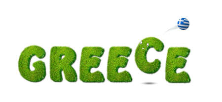 Illustration with greece soccer  on white background  illustration