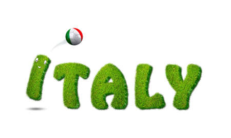 Illustration with Italy soccer  on white background  illustration