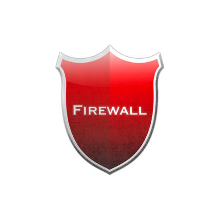 Illustration with firewall shield on white background  Stock Illustration - 16905538