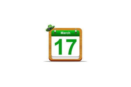 Illustration with a St Patrick day calendar  Stock Illustration - 16905537