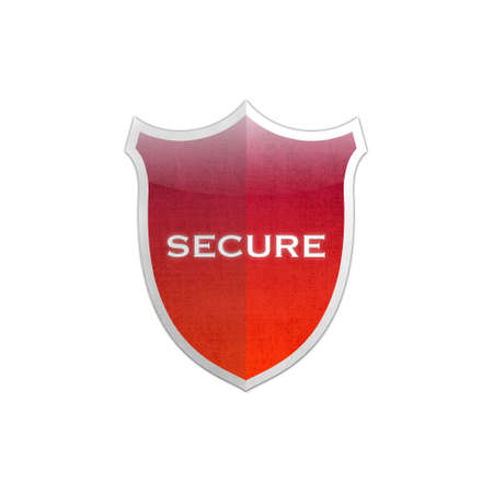 Illustration with secure shield on white background Stock Illustration - 16960411