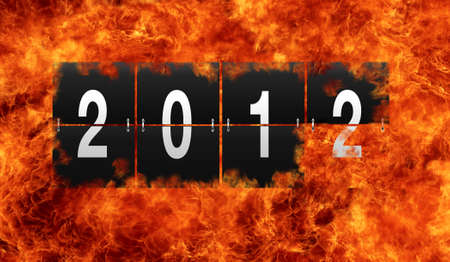 Illustration with a 2012 calendar with flame Stock Illustration - 16970443