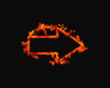 Illustration with a flaming arrow on black background Stock Illustration - 16978018