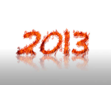 Illustration with a 2013 calendar with flame Stock Illustration - 17011284