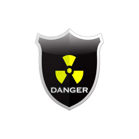 Illustration with Danger shield on white background  illustration