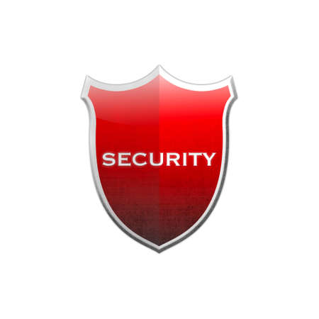 guard  guardian:  Illustration with security shield on white background  Stock Photo