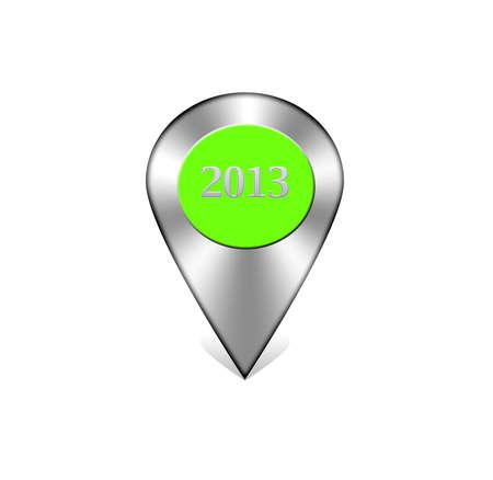 Illustration with icon web navigation 2013 on white background Stock Illustration - 17123899