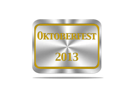 Aluminum frame illustration with Oktoberfest signal on white background  illustration