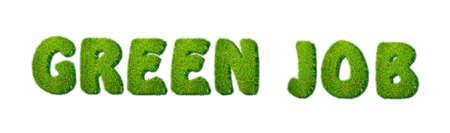 Illustration with words green job on white background Stock Illustration - 17215553