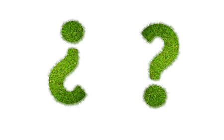 Illustration with question grass word on white background Stock Illustration - 17254627