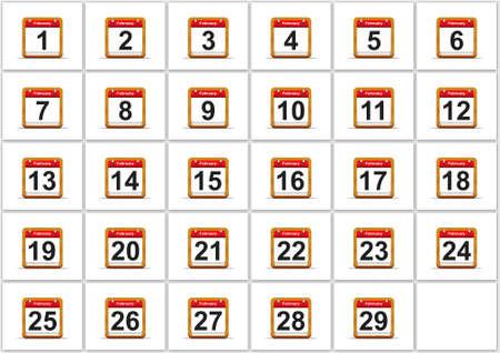 Illustration elegant February calendar on white background Stock Illustration - 17288262