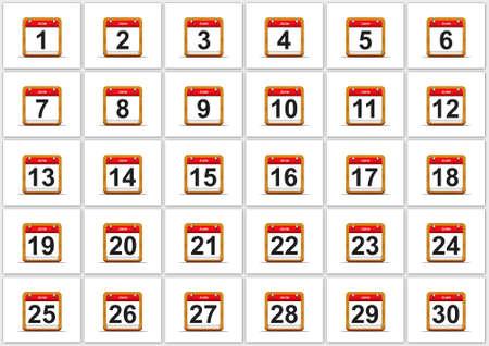 Illustration elegant June calendar on white background Stock Illustration - 17288265
